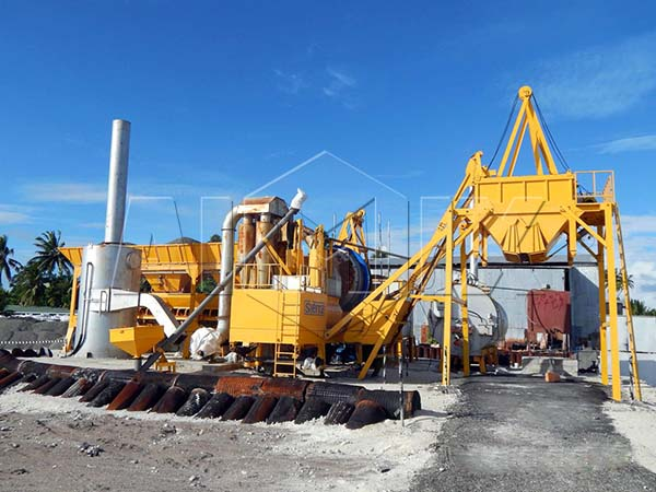 мобильный асфальтный завод на Узбекистане